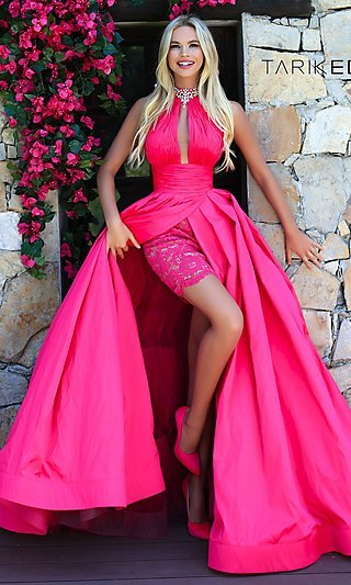 A-Line Prom Dress with an Illusion Keyhole Cut-Out