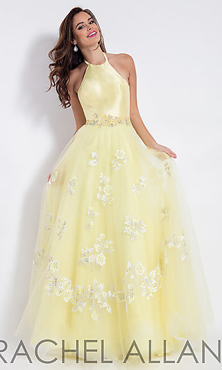 Pale Yellow Prom Dresses