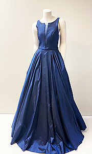 Image of bateau-neck stunning ball gown for prom. Style: SH-52121 Front Image