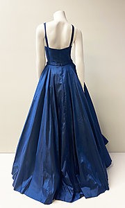 Image of bateau-neck stunning ball gown for prom. Style: SH-52121 Back Image
