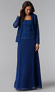 Lace-Bodice Mother-of-the-Bride Dress with Jacket