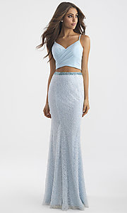 Two-Piece Beaded Skirt Long Prom Dress