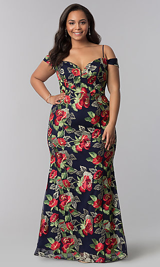 Full-Figure Dresses and Plus-Size Prom Gowns -PromGirl