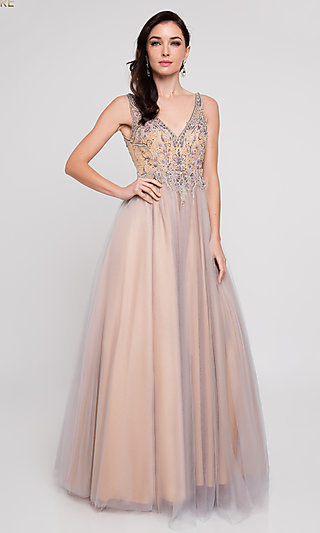 V-Neck Ball Gown for Prom by Terani