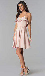 Image of multi-strap short wedding guest party dress. Style: MT-8921 Detail Image 3