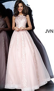 Image of JVN by Jovani ball-gown-style beaded prom dress. Style: JO-JVN-JVN59046 Detail Image 3