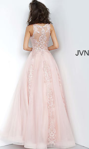 Image of JVN by Jovani ball-gown-style beaded prom dress. Style: JO-JVN-JVN59046 Detail Image 4