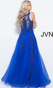 Image of JVN by Jovani ball-gown-style beaded prom dress. Style: JO-JVN-JVN59046 Detail Image 8