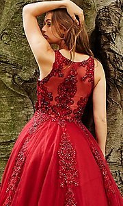 Image of JVN by Jovani ball-gown-style beaded prom dress. Style: JO-JVN-JVN59046 Detail Image 2