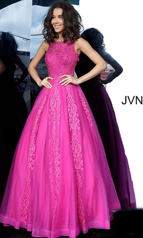 Image of JVN by Jovani ball-gown-style beaded prom dress. Style: JO-JVN-JVN59046 Detail Image 5