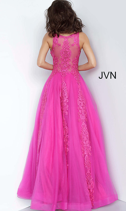 Image of JVN by Jovani ball-gown-style beaded prom dress. Style: JO-JVN-JVN59046 Detail Image 6