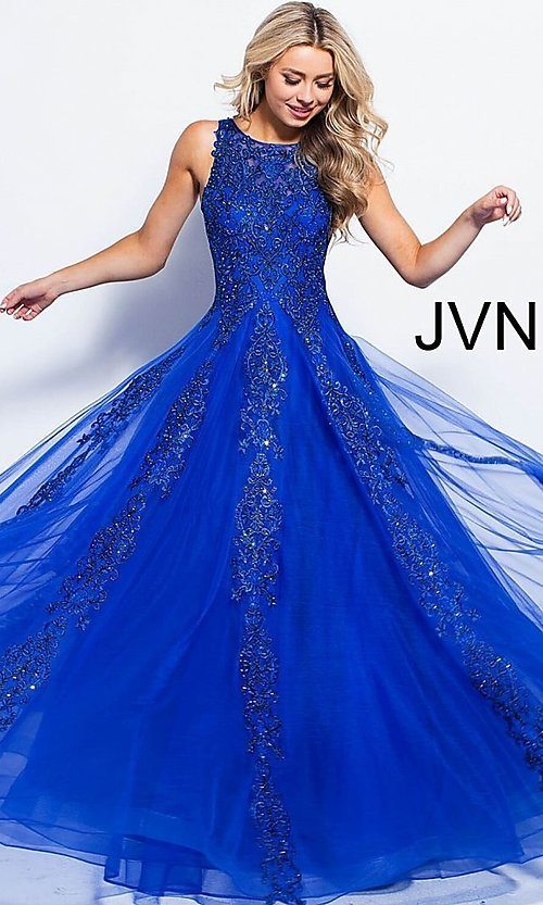 Image of JVN by Jovani ball-gown-style beaded prom dress. Style: JO-JVN-JVN59046 Detail Image 7