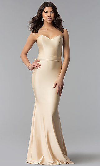Strapless Sweetheart Atria Long Prom Dress