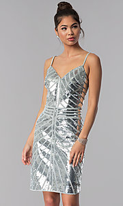 Sequin Short JVN by Jovani Homecoming Dress