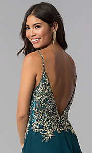 Image of teal JVNX by Jovani short homecoming dress. Style: JO-JVNX65162 Detail Image 2
