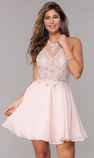 JVNX by Jovani Embroidered-Applique Party Dress