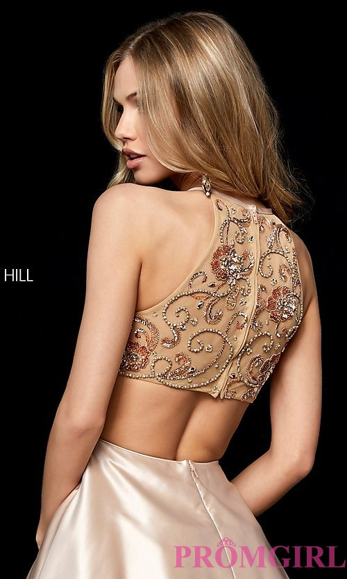 Image of Sherri Hill short homecoming dress with pockets. Style: SH-52232 Detail Image 2