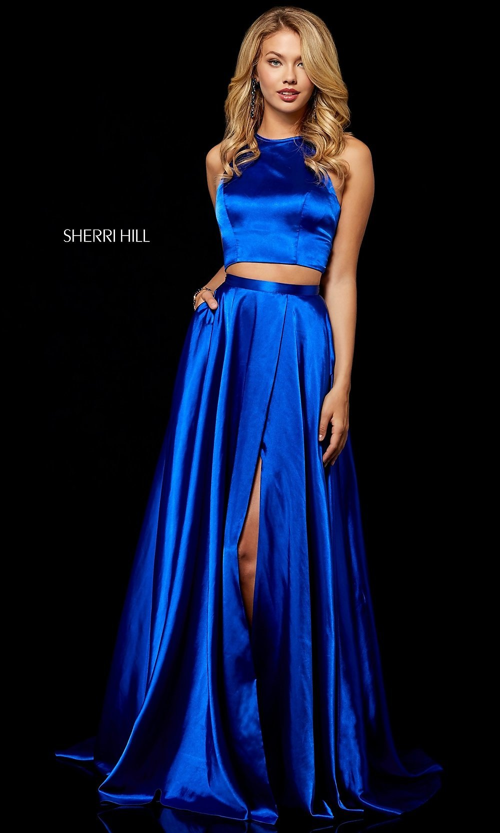83adc2186fc Royal Blue Prom Dress Two Piece - Gomes Weine AG