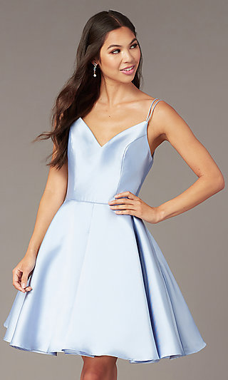 a5eaf57f65d Double-Strap V-Neck Alyce Short Homecoming Dress