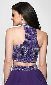 Image of t-back two-piece short homecoming dress. Style: BL-11623 Detail Image 2