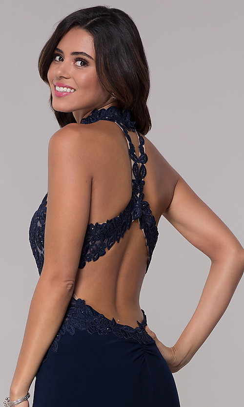 Image of racer-front short Faviana homecoming dress. Style: FA-10156 Detail Image 1
