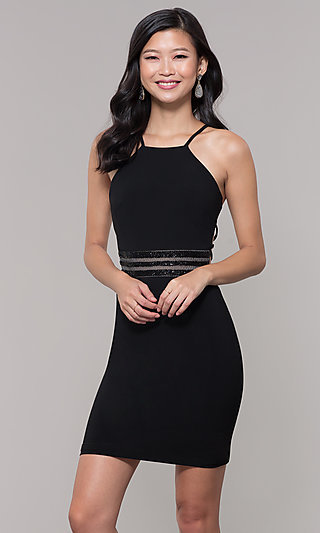 Caged Back LBD for Holiday Parties