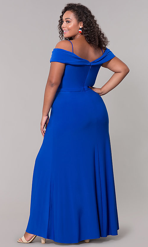 Plus-Size Long Wedding Guest Dress with Slit