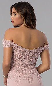 Image of short off-shoulder sweetheart homecoming dress. Style: DQ-3032 Detail Image 2
