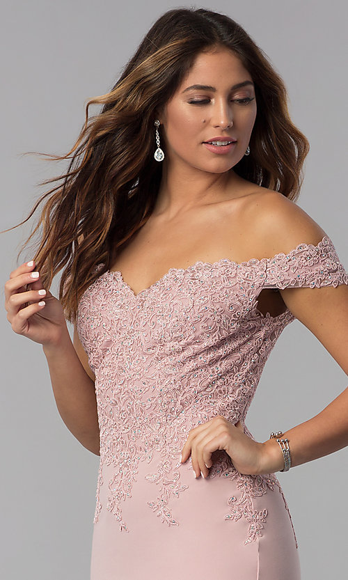Image of short off-shoulder sweetheart homecoming dress. Style: DQ-3032 Detail Image 1