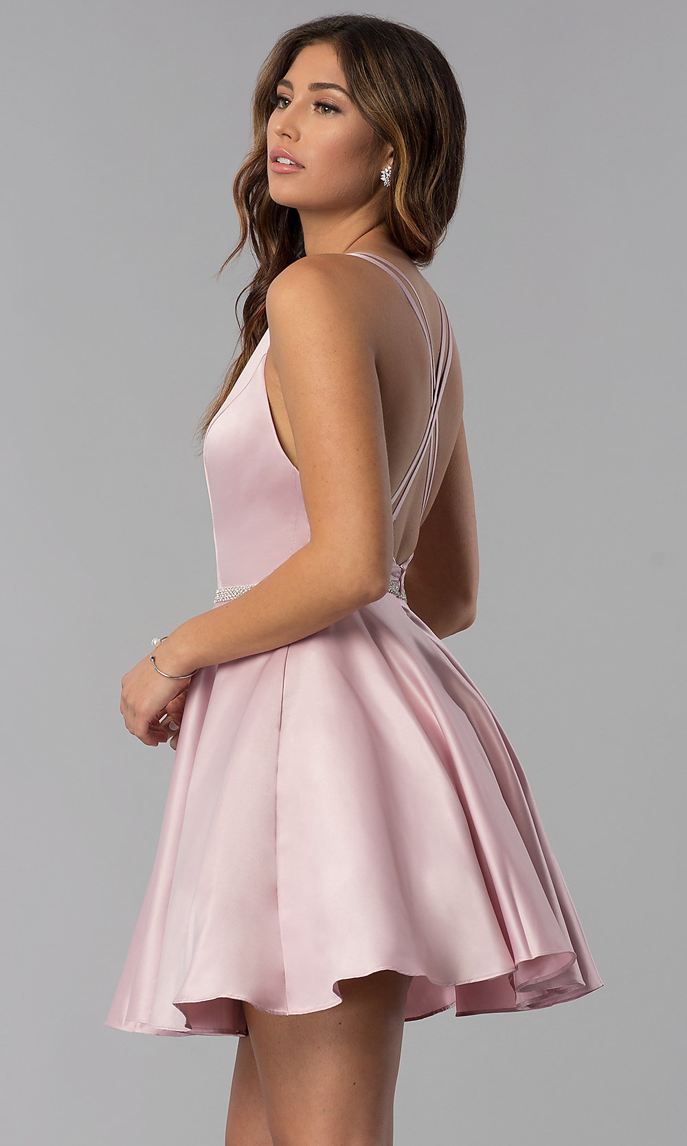 26d249ff73 ... short open-back homecoming dress. Style  DQ-. Tap to expand