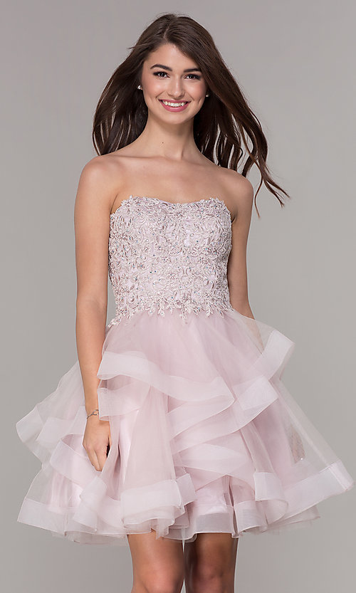 Short Dresses Tiered Tulle
