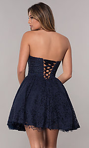 Image of strapless sweetheart short homecoming dress. Style: FB-GS1611 Back Image
