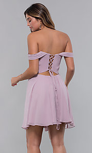 Image of Faviana short off-the-shoulder homecoming dress. Style: FA-10163 Detail Image 5