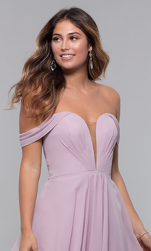 Image of Faviana short off-the-shoulder homecoming dress. Style: FA-10163 Detail Image 6