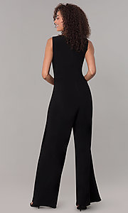 Image of one-piece v-neck holiday jumpsuit. Style: SD-S289360 Back Image