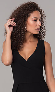 Image of one-piece v-neck holiday jumpsuit. Style: SD-S289360 Detail Image 1