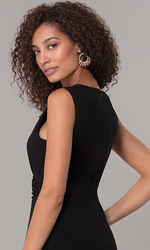 Image of one-piece v-neck holiday jumpsuit. Style: SD-S289360 Detail Image 2