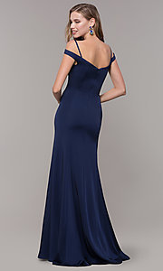Image of off-the-shoulder sweetheart evening dress. Style: CD-2017 Detail Image 6