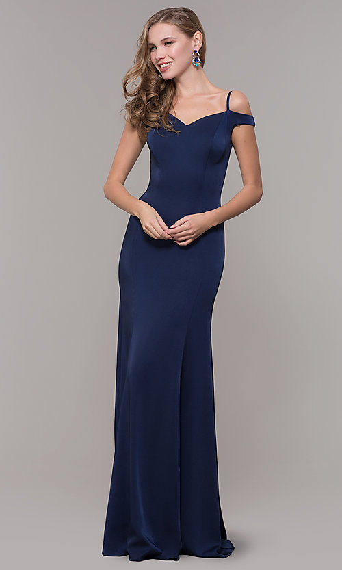 Image of off-the-shoulder sweetheart evening dress. Style: CD-2017 Detail Image 5
