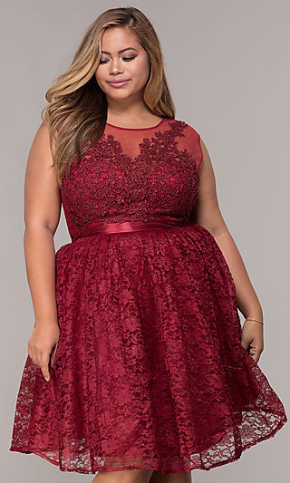 2019 year looks- Dresses Prom plus size short pictures