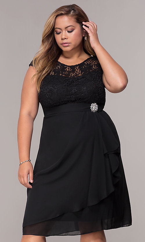 Plus Size Short Mother Of The Bride Dress Promgirl
