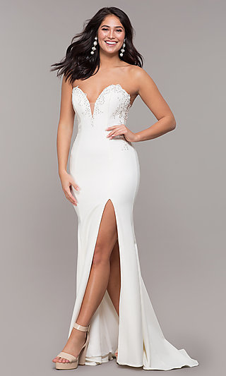 Mermaid-Style Sleeveless Strapless Prom Dress