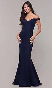 Image of long sweetheart off-the-shoulder mermaid prom dress. Style: ZG-31330 Detail Image 4