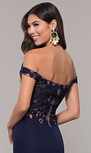 Image of long sweetheart off-the-shoulder mermaid prom dress. Style: ZG-31330 Detail Image 7