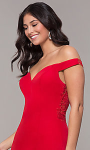 Image of long sweetheart off-the-shoulder mermaid prom dress. Style: ZG-31330 Detail Image 1