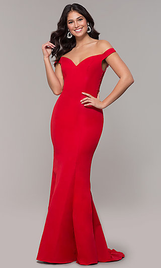 Long Sweetheart Off-the-Shoulder Mermaid Prom Dress
