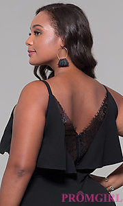 Image of v-neck plus-size wedding guest jumpsuit. Style: SY-IXB1384AP Detail Image 2