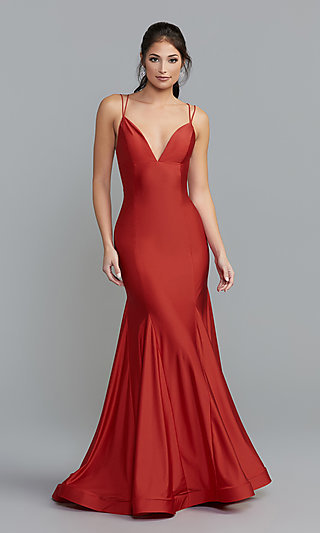 Long Designer Prom Dress with a Trumpet Skirt 43f98e51e