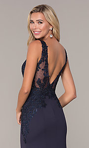Image of long lace-open-back prom dress by Elizabeth K. Style: FB-GL2614 Detail Image 2