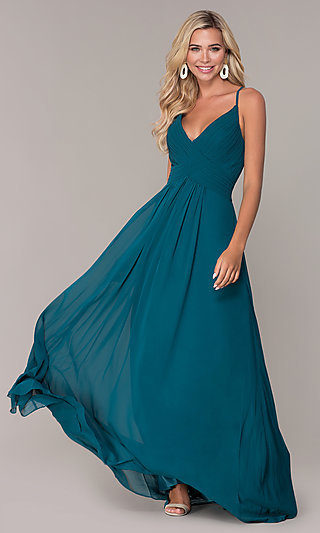 Elizabeth K Long Chiffon Prom Dress